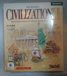 1996 Civilization 2 - Macintosh Big Box SEALED