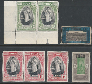 TOGO:  Small lot stamps are in Used, M/H, MNH.  ( 2 scans ).