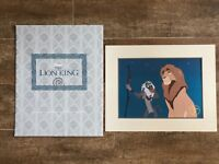 The Lion King 1995 Vintage Lithograph picture Disney Store exclusive Simba