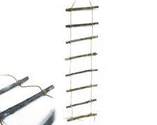 Scaletta Legno E Corda Cm 25x110 Decorazione Arredo Primavera Shabby