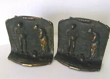 Vintage art deco copper metal in prayer pair beautiful collectible book ends