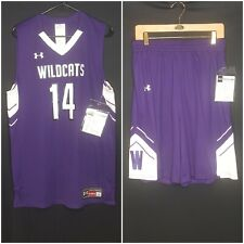 Authentic Under Armour Mens Large Northwestern Wildcats Basketball Uniform NEW