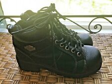 Harley Davidson HD Womens 6.5 Biker Boot Leather Lace Up Grunge Ride Motorcycle