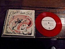 "Charlie Don't Surf Shadows b/w Ode To Biff & Bob Red Vinyl 7"" Single Unplayed"