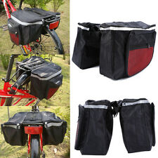 Cycling Bicycle Bike Rack Back Rear Seat Storage Bag Carrier Double Pannier Red