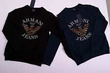 ARMANI JEANS Mens Sweatshirt Long Sleeve T shirt 100% Genuine navy & black color