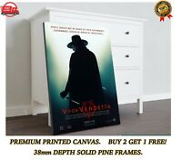 V For Vendetta Mr Creedy Quote Framed Canvas Picture