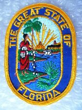 Patch- The Great State of Florida US Police Patch (NEW, apx. 105x75 mm)