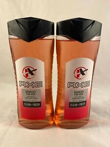 Axe Anarchy For Her Body Wash 16oz Bottles Rose Crisp Apple Scent Lot Of 2 New