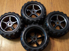 Traxxas 1/10 Brushless E-Revo Talon Tires & 17mm Gemini Wheels 5374X E-maxx /3.3