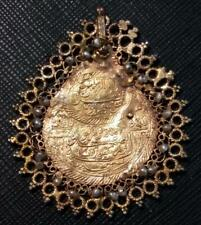 VERY OLD ISLAMIC OTTOMAN PENDANT 1st Surah of Quram ALLAH IS THE NUMBER ONE