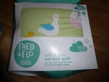 FRED & FLO COT BED QUILT 3.5 TOG AGE 1 YEAR +  120 x 100 cm FARM THEMED  *NEW*