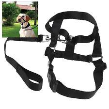 New listing Dog Muzzle Adjustable Buckle Head Collar Stop Pet Pulling Halter Training Xl