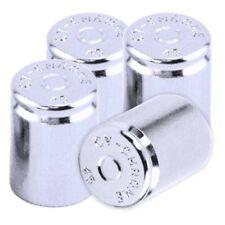 4 Chrome 45 Metal Replica Bullet Tire Valve Stem Dust Caps For Rim Wheel