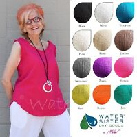 WATERSISTER Cotton Gauze  LONG FRAYED TANK  Top 1(S/M) 2(L/XL) 3(1X) 2018 COLORS