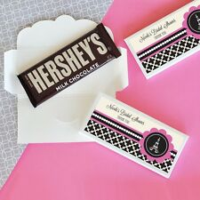 24 Personalized Paris Themed Candy Bar Wrappers Wedding Bridal Shower Favors