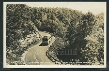 TN Monteagle RPPC 1950's GREYHOUND BUS in the CUMBERLAND MTS Hwy 41 by Cline