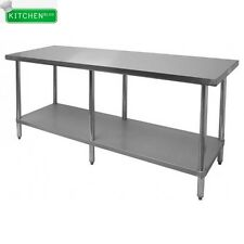 """Flat Top Work Table Stainless Steel Top 30""""x84"""""""