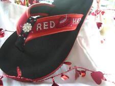 Red Hat Ladies Custom Flip Flops in Crystals or Metals