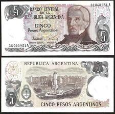 ARGENTINA  5 Pesos 1983-84 UNC P 312 a(1)