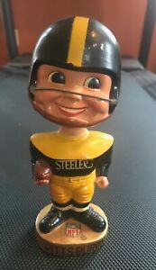 Pittsburgh Steelers 1967 Football Gold Base Bobblehead Nodder Sports Specialties