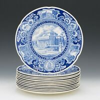 Rare Columbia University Signed Wedgwood First Edition Plate Complete Set of 12