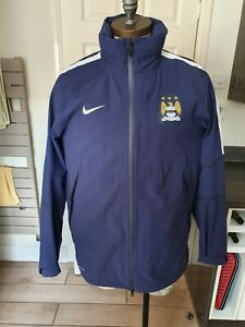 Mens Nike Manchester City Storm Fit Zip Up Jacket With Hood  Sz Large Mint cond
