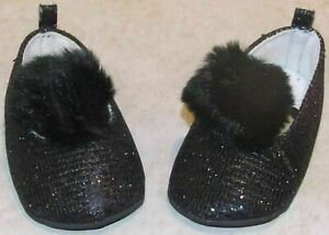 Toddler Girls Little Me Black Glitter Shoes Size 2