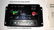 10 amp 12/24 volt solar panel charge controller