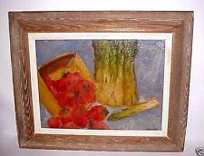 STILL LIFE OIL PAINTING BY GEORGE DANIELL LISTED NYC  - MAINE  ARTIST  - FRAMED