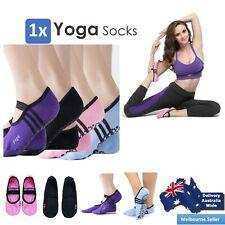 Ladies Women Sports Cotton Rich Pilates Yoga Non-Slip Grip Socks AU