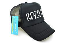 Men Women Trucker Caps Led Zep Rock Summer Trucker Mesh Caps Hat Fans Cool