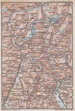 C2623 Italia - San Bernardino - Spluga - Carta geografica d'epoca - 1923 old map