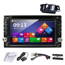 2019 Radio for Nissan Dash Car GPS CD DVD Player Touch BT 2 DIN Stereo Camera~