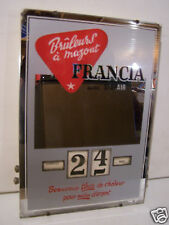 @£ GLACE CALENDRIER PERPETUEL GERRER BRULEURS A MAZOUT FRANCIA  ANNEE 1960