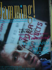JAMMING! MAGAZINE MAY 1985 - PETE TOWNSHEND (THE WHO) - THE ALARM