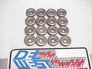 """16 DEL WEST Mini Titanium Retainers w/Molysil Coating 1.250""""-.950""""-.650"""" NASCAR"""