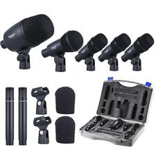 New Wired Microphone Mic Kit for Drum Kit with Drum/Condenser Mics USA Deliver