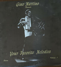 Gino Martino Your Favorite Melodies autographed vinyl LP