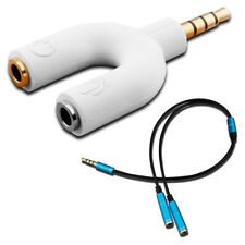 U Shape 3.5mm Y Splitter for Audio Headphone and MIC + 3.5mm 4 Position B1S9