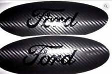 Carbon Fiber Ford Emblem Overlay Badge BLACKOUT Edition Decal Any Year / Model