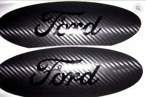 Ford Oval Emblem CARBON FIBER Overlay Badge BLACKOUT Vinyl Decal Any Year/Model
