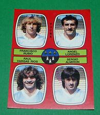 N°380 RUBIO LORENZO VARGAS RIOS ALMIRON TOURS D2 PANINI FOOTBALL 87 1986-1987