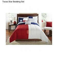 New Texas Star King Size Comforter Set Bedding Bedspread Sheets Red White Blue