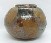 Study Art Hand Thrown Pottery Signed Trudy, Brown, Vase, Planter, Pot