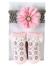 Stephan Baby Diamond Flower Girl Headband & Sock Set 6-12 month 604186