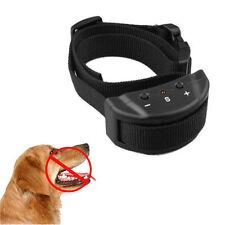 Electric Remote Control Anti Bark Collar No Shock Pet Dog Training Ultrasonic UP
