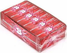 Bubblicious Strawberry Bubble Gum Candy Bulk 1 Box of 18 Count Five Piece Packs