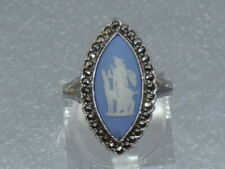 Vintage Wedgwood & Silver Ring surrounded by marcasites