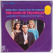 BOBBY BARE, NORMA JEAN, LIZ ANDERSON: Game of Triangles SHRINK USA Country LP